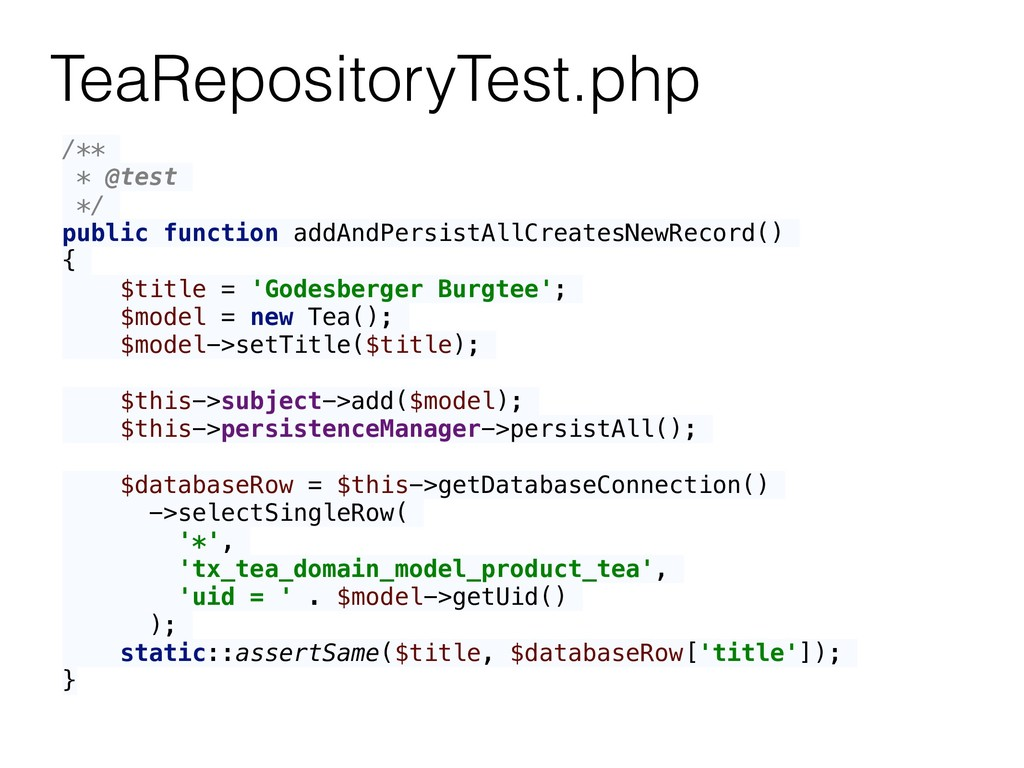 TeaRepositoryTest.php /** * @test */ public fun...