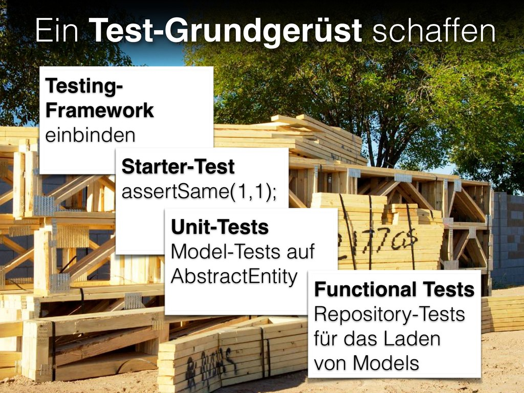 Ein Test-Grundgerüst schaffen Testing- Framewor...