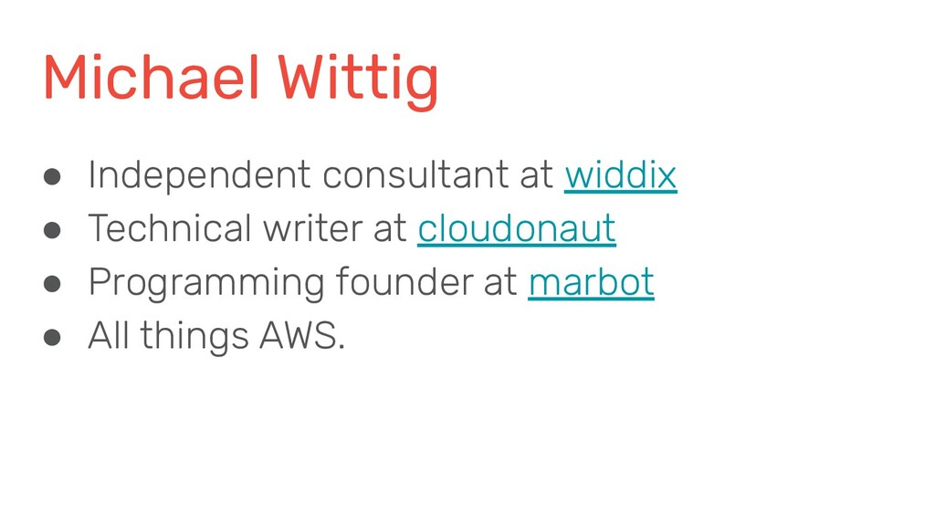 Michael Wittig ● Independent consultant at widd...