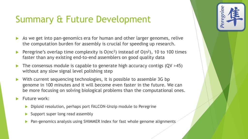 Summary & Future Development u As we get into p...
