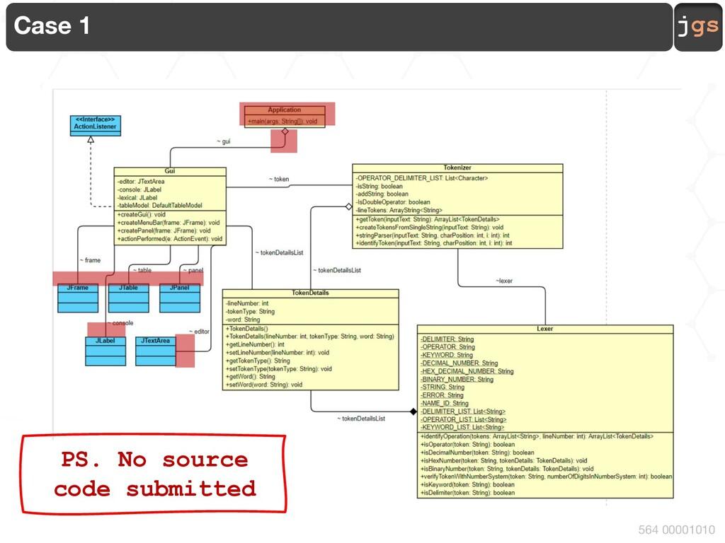 jgs 564 00001010 Case 15 Missing elements !