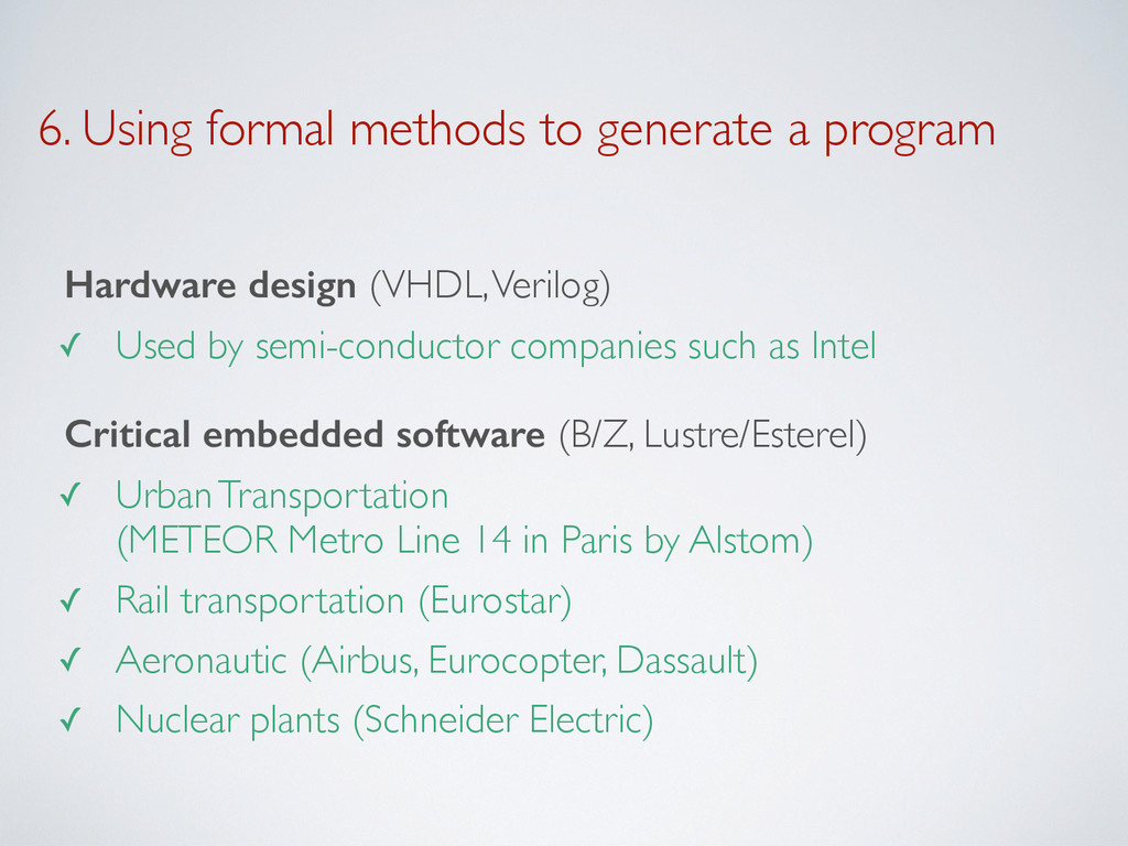 6. Using formal methods to generate a program H...