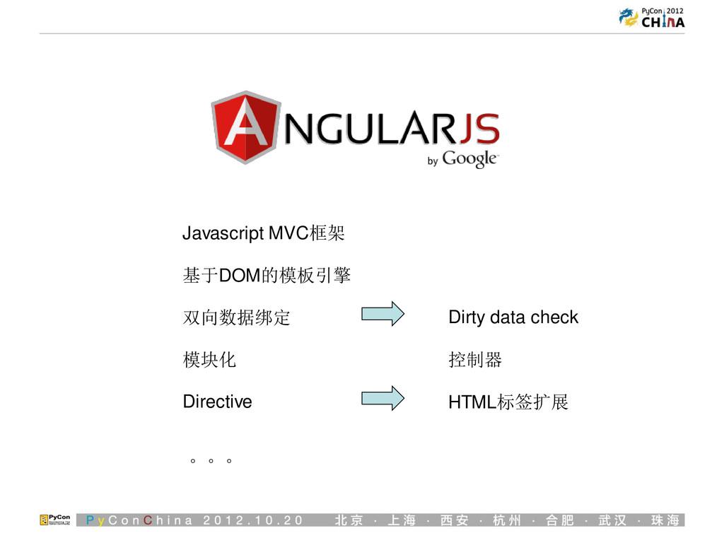 Javascript MVC框架 基于DOM的模板引擎 双向数据绑定 Dirty data c...
