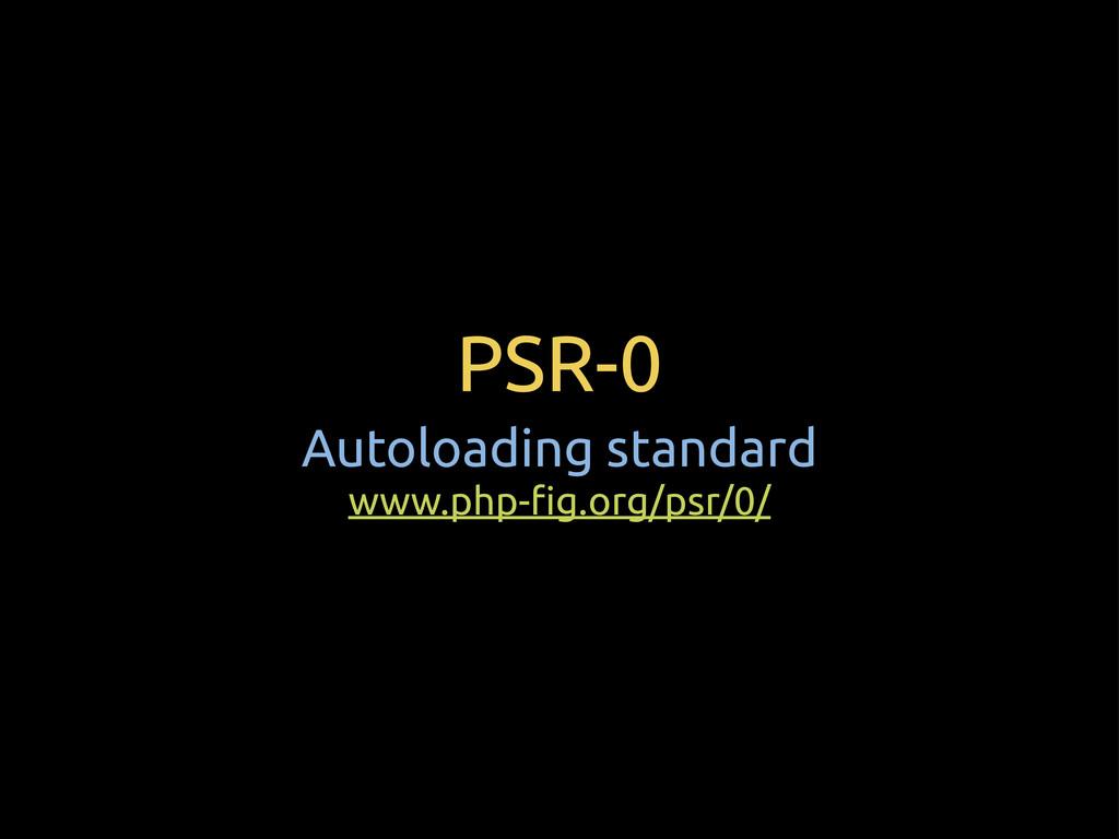 "PSR-0 Autoloading standard www.php-""g.org/psr/0/"