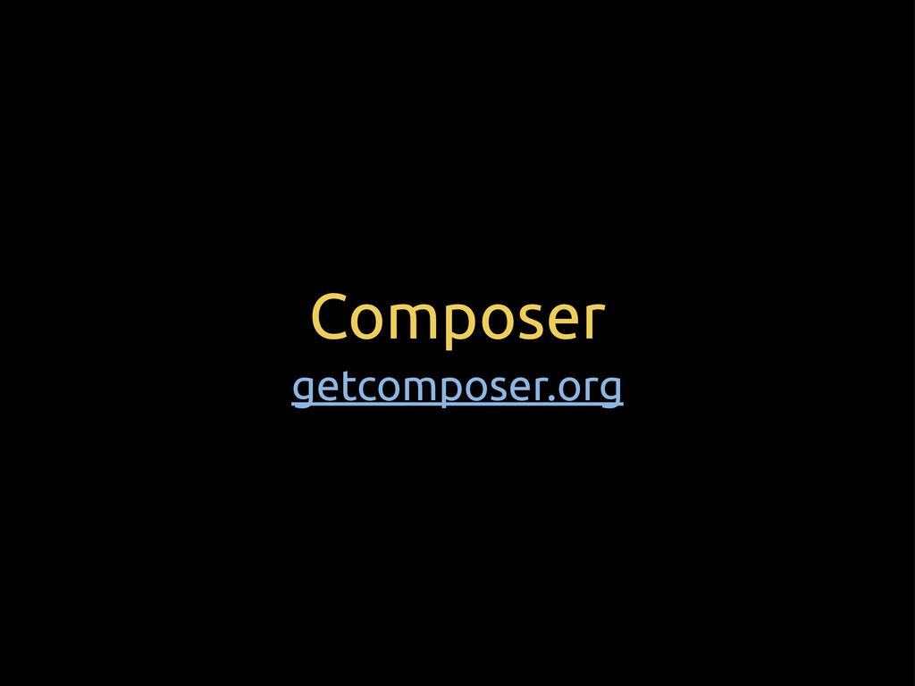 Composer getcomposer.org