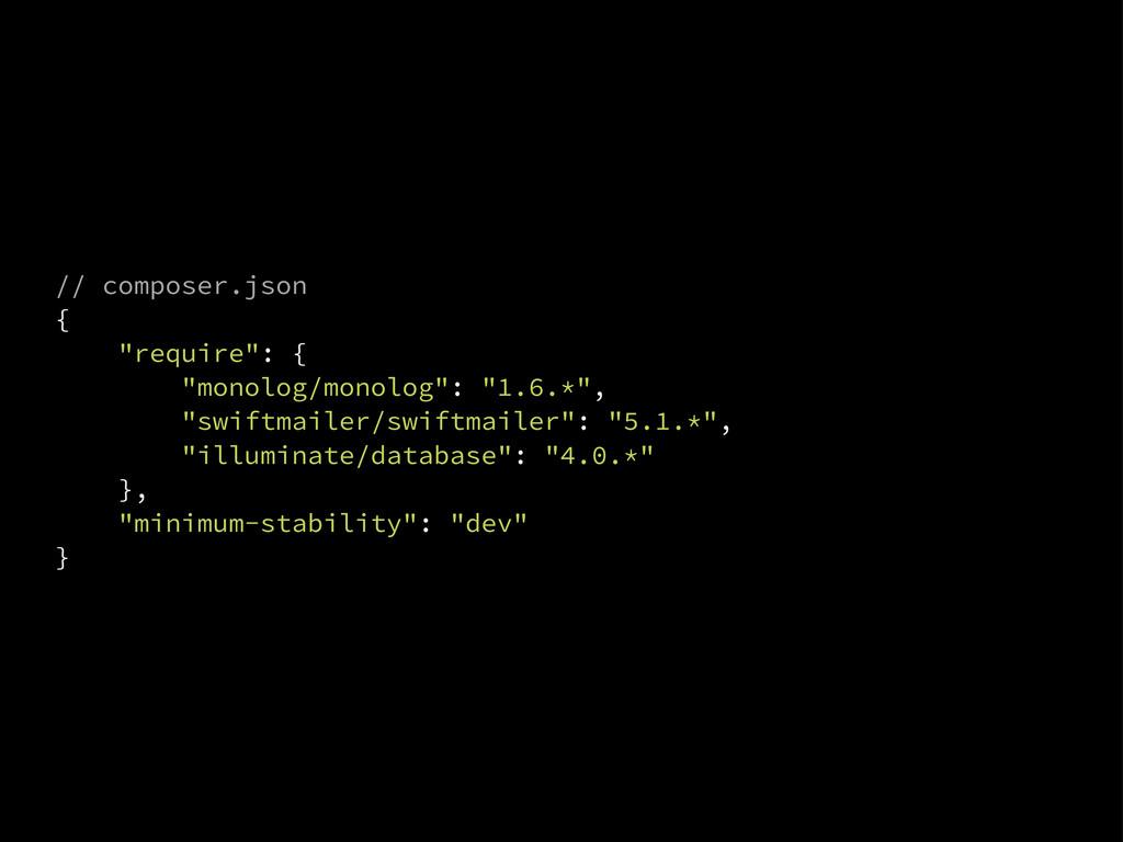 "// composer.json { ""require"": { ""monolog/monolo..."
