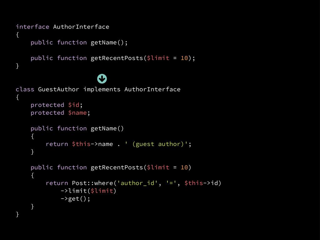 interface AuthorInterface { public function get...