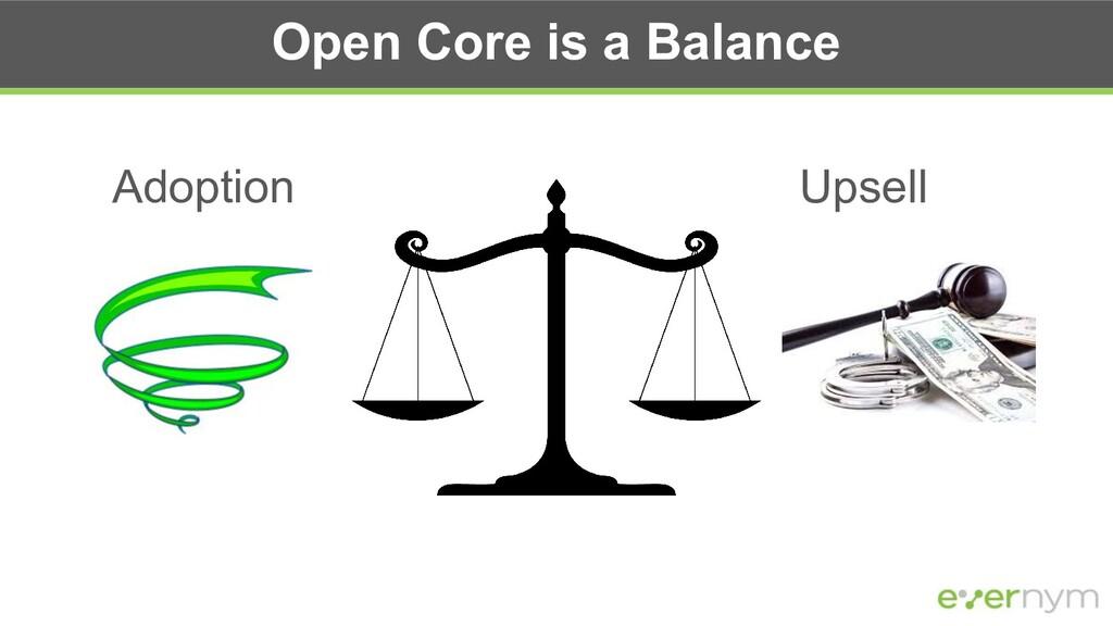 Open Core is a Balance Adoption Upsell