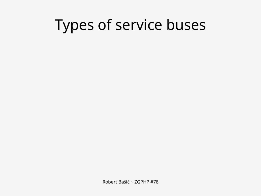 Robert Bašić ~ ZGPHP #78 Types of service buses