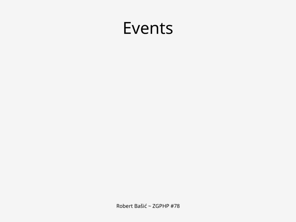 Robert Bašić ~ ZGPHP #78 Events
