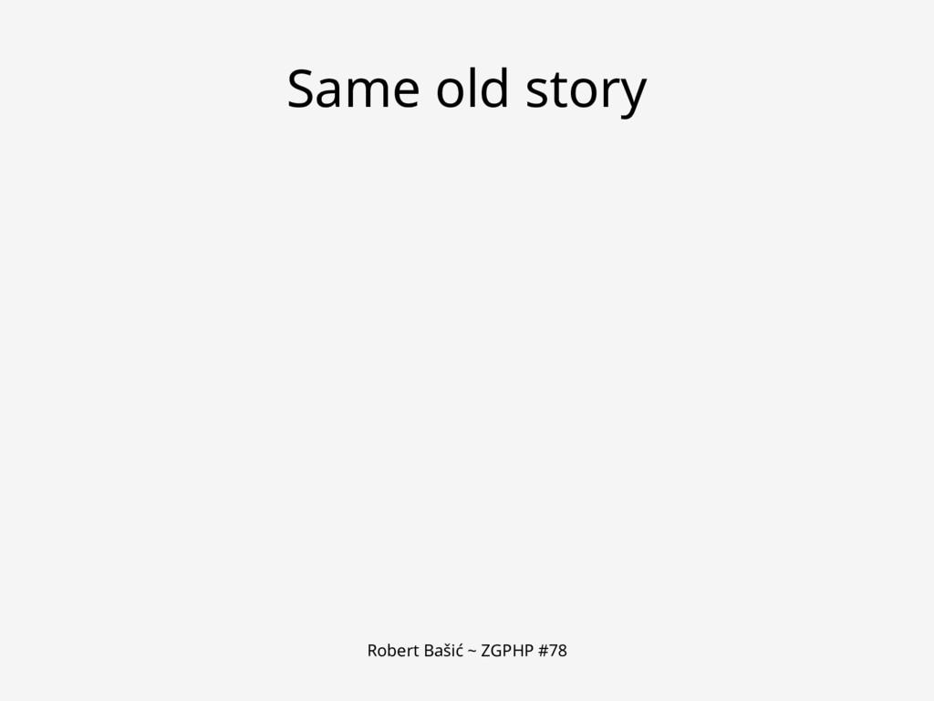 Robert Bašić ~ ZGPHP #78 Same old story