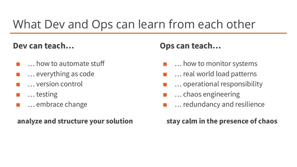 What Dev and Ops can learn from each other Dev ...