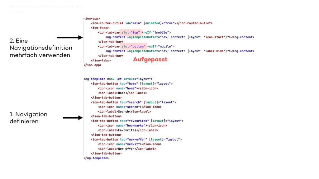 Schneller ans Ziel: Web-Apps mit Ionic 2. Eine ...