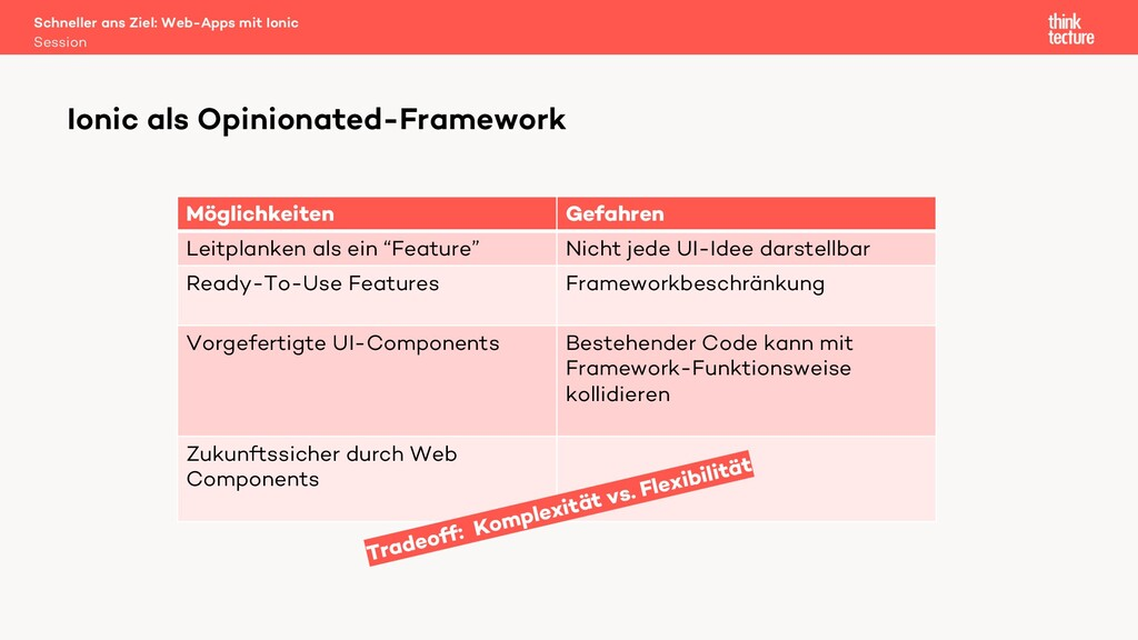 Ionic als Opinionated-Framework Schneller ans Z...