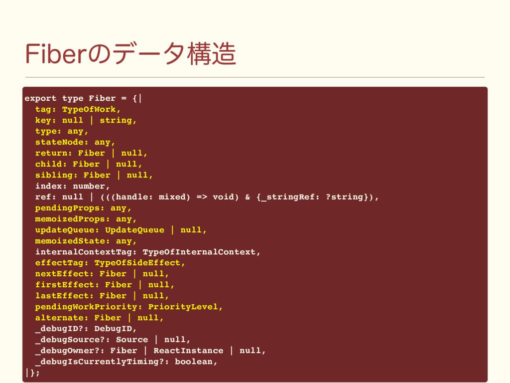 'JCFSͷσʔλߏ export type Fiber = {| tag: TypeOfW...