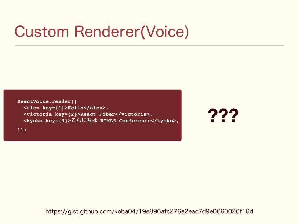 $VTUPN3FOEFSFS 7PJDF  ReactVoice.render([ <ale...