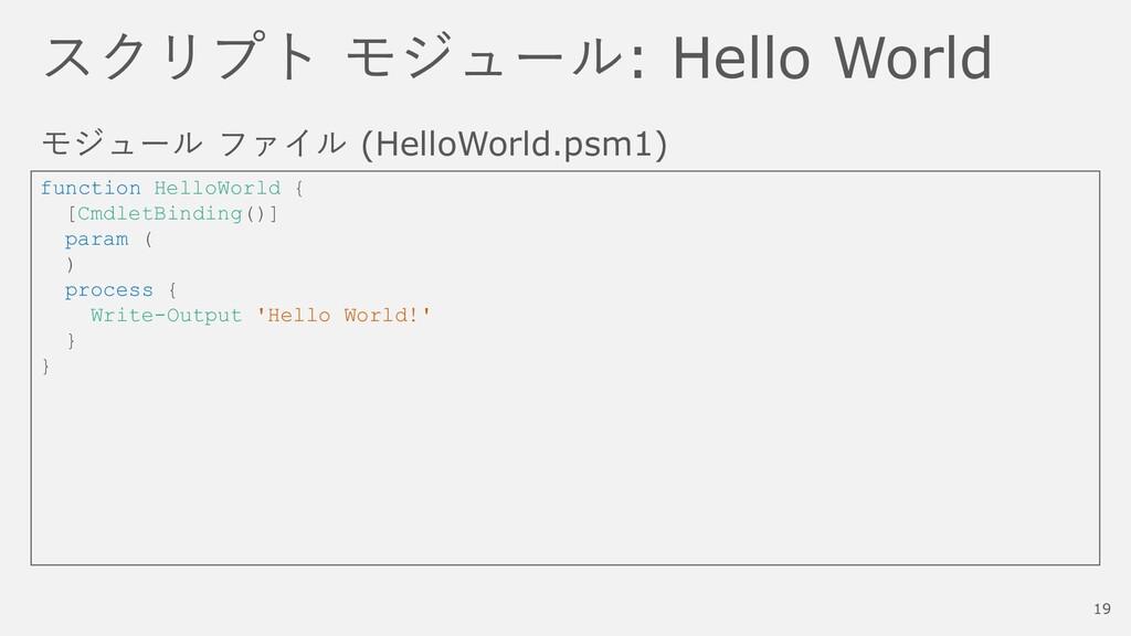 スクリプト モジュール: Hello World モジュール ファイル (HelloWorld...
