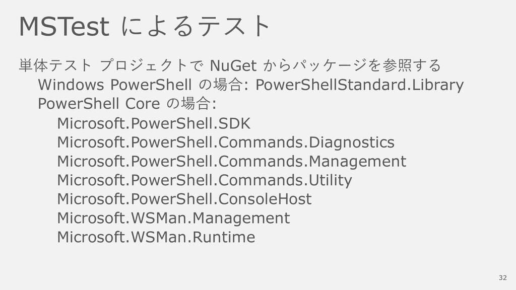 MSTest によるテスト 単体テスト プロジェクトで NuGet からパッケージを参照する ...