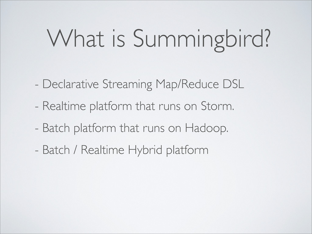- Declarative Streaming Map/Reduce DSL - Realti...
