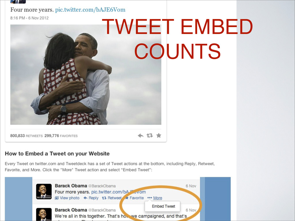 TWEET EMBED COUNTS