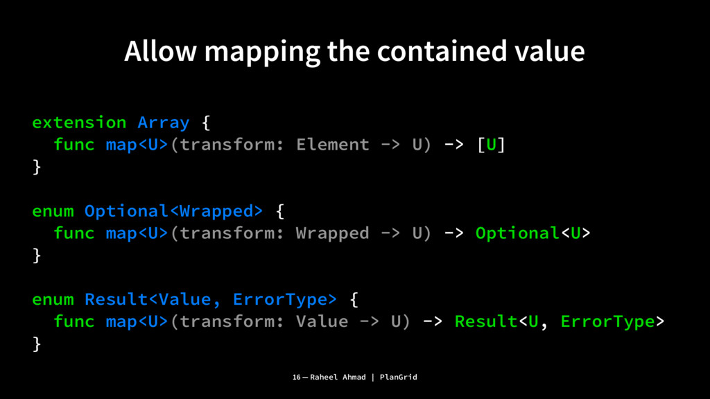 Allow mapping the contained value extension Arr...