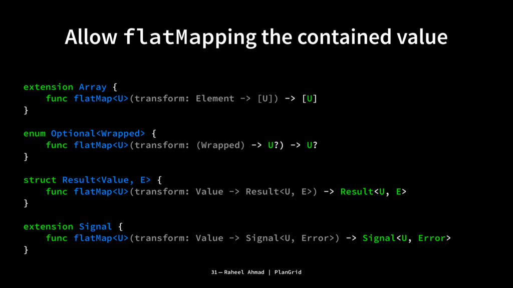 Allow flatMapping the contained value extension...