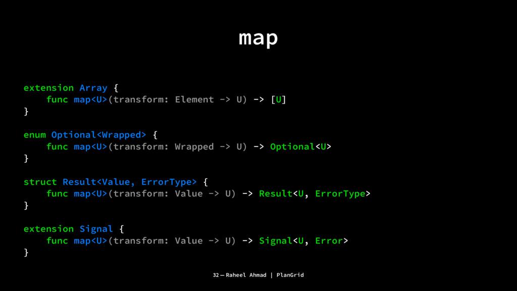 map extension Array { func map<U>(transform: El...
