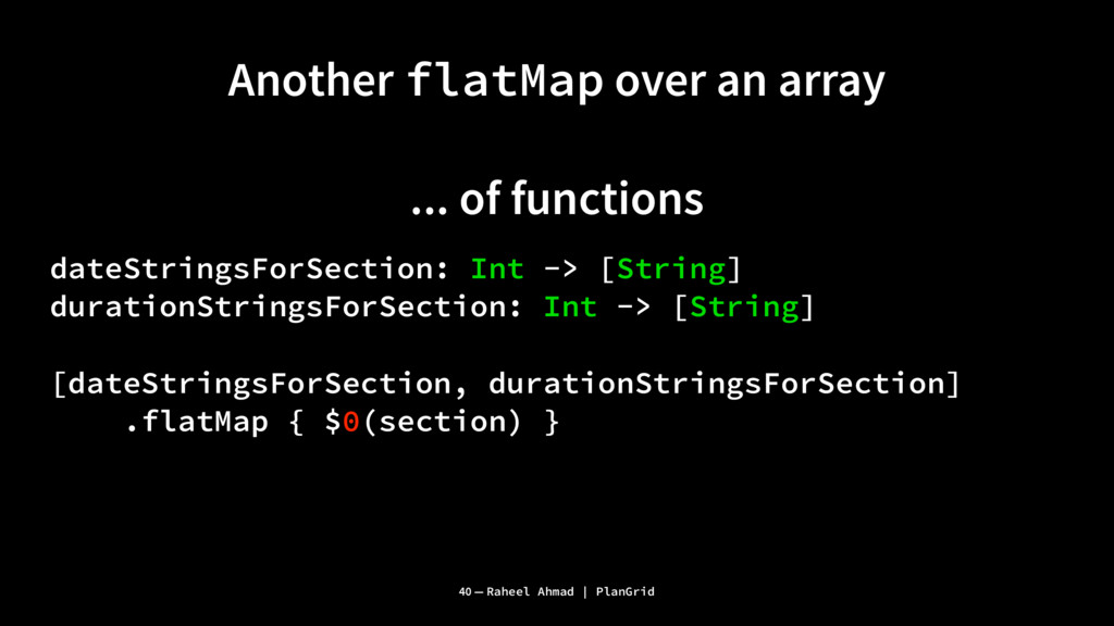 Another flatMap over an array ... of functions ...