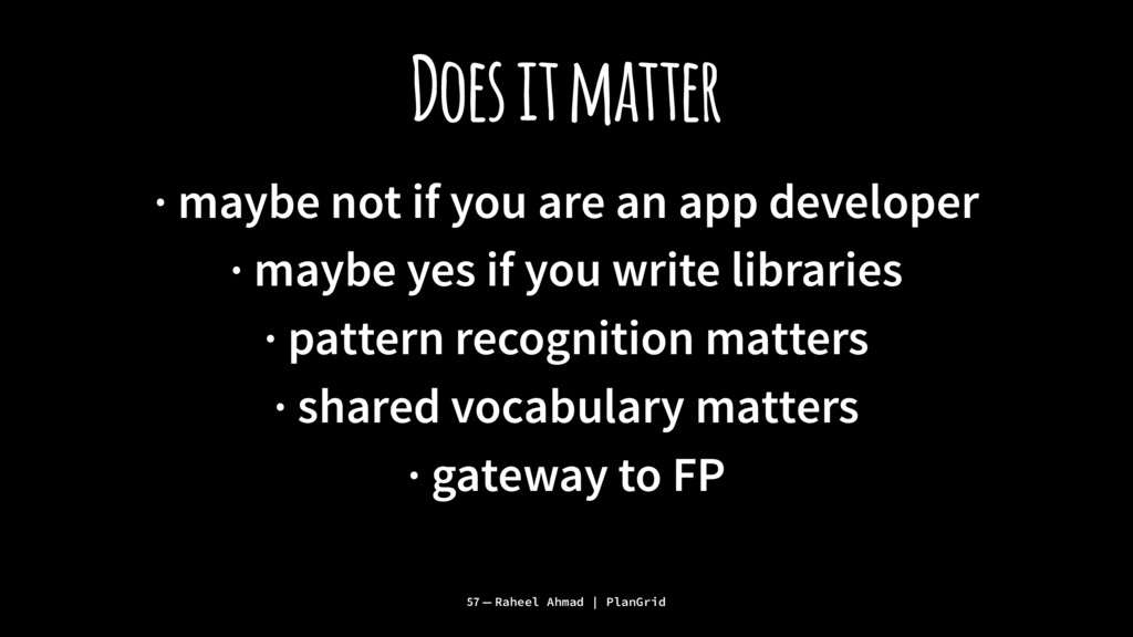 Does it matter · maybe not if you are an app de...