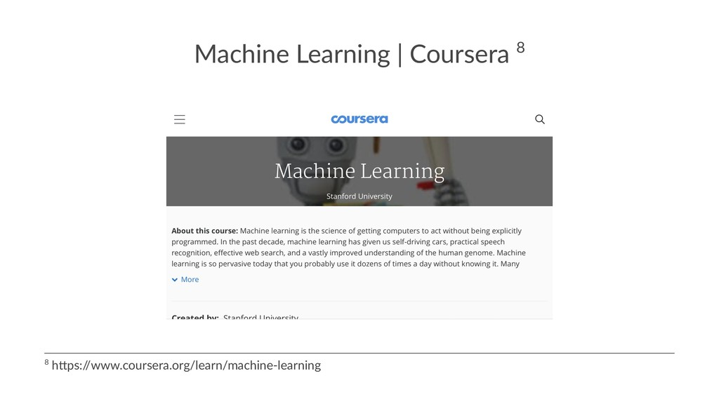 Machine Learning | Coursera 8 8 h$ps:/ /www.cou...