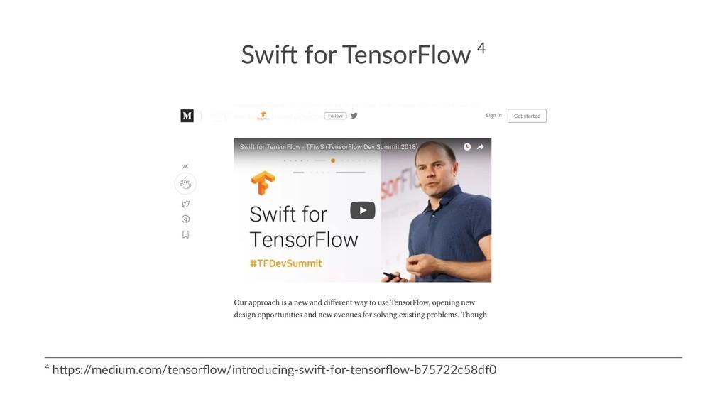 Swi$ for TensorFlow 4 4 h$ps:/ /medium.com/tens...