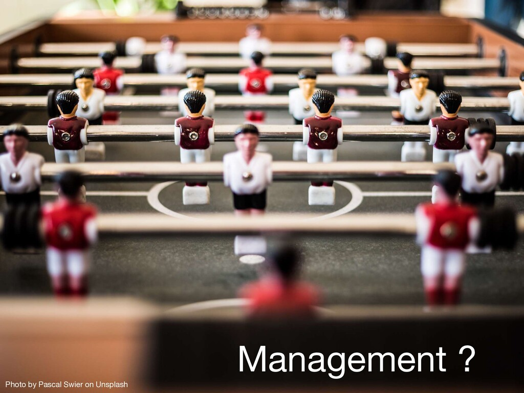 Management ? Photo by Pascal Swier on Unsplash
