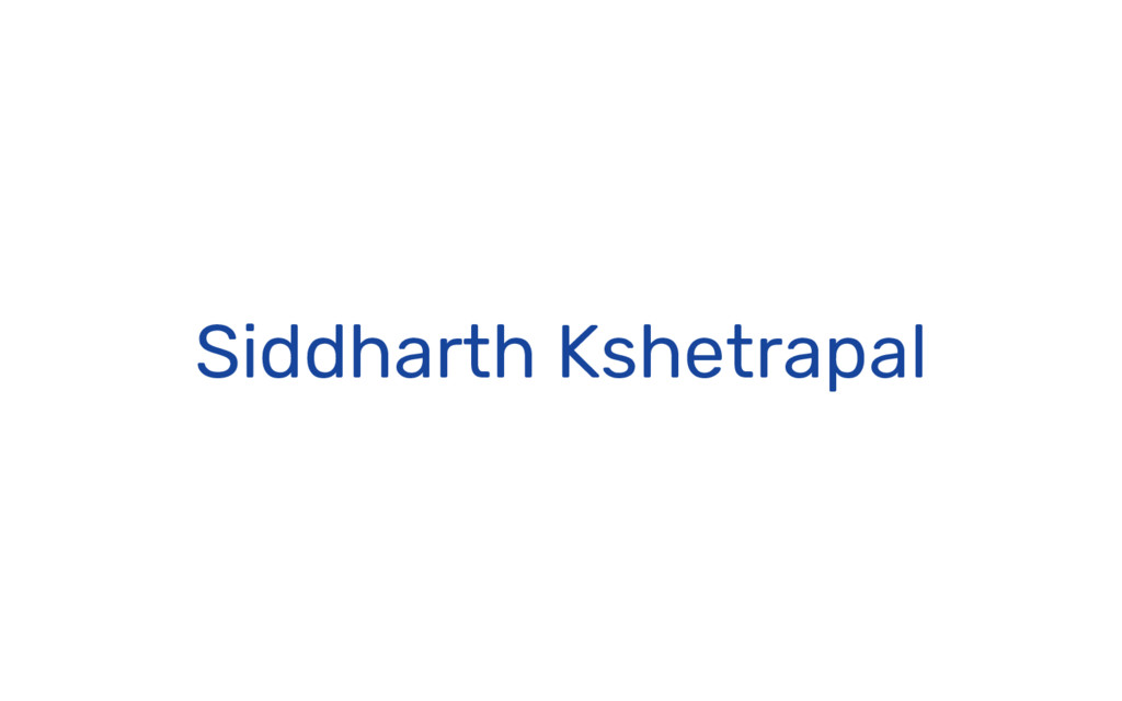 Siddharth Kshetrapal