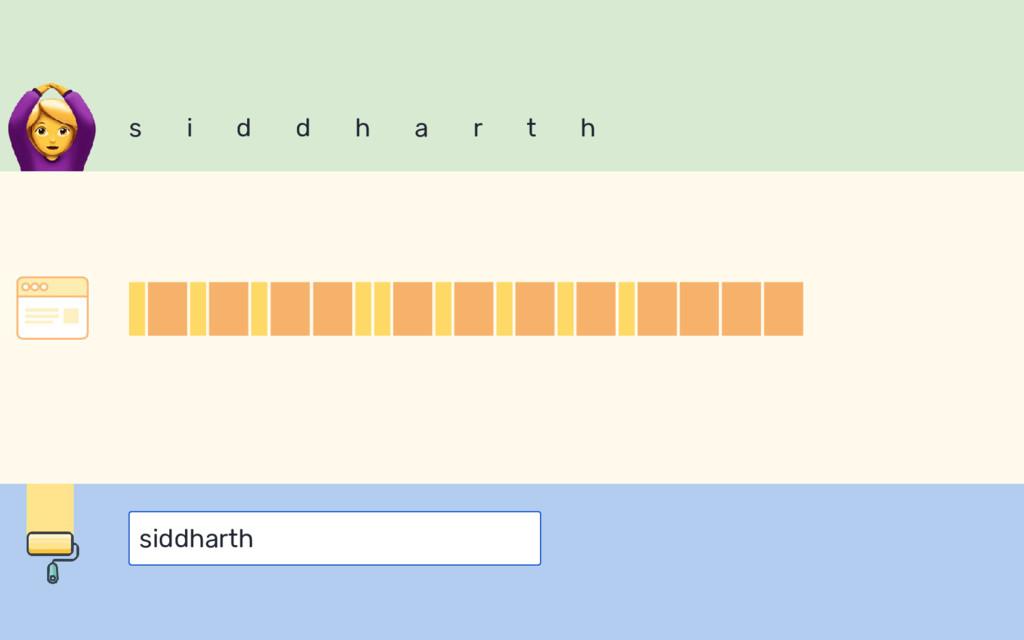 s i d d h a r t h siddharth