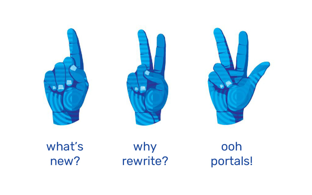 what's new? why rewrite? ooh portals!