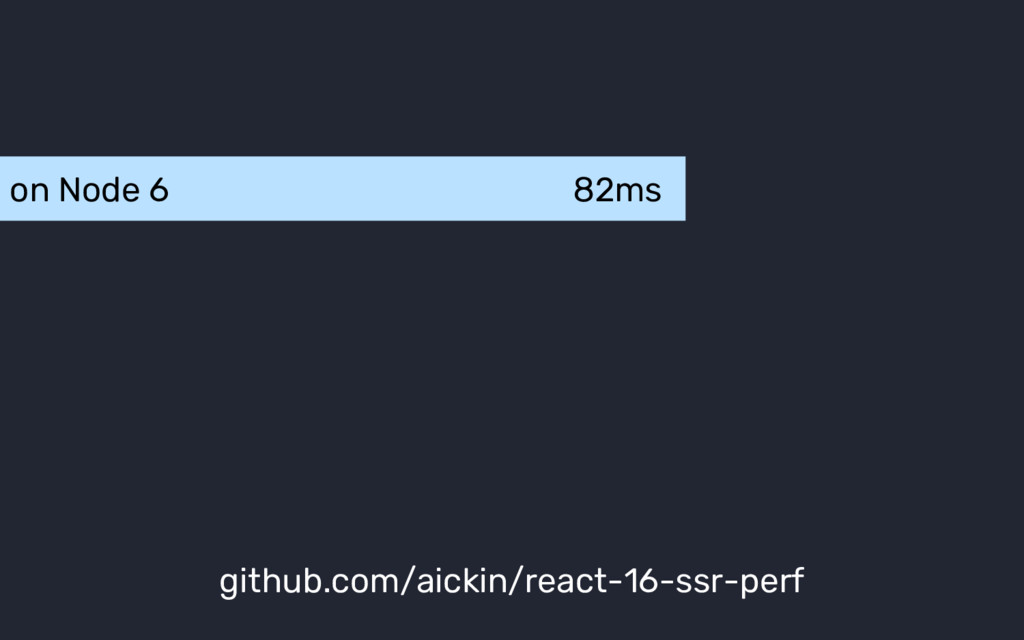 on Node 6 82ms github.com/aickin/react-16-ssr-p...