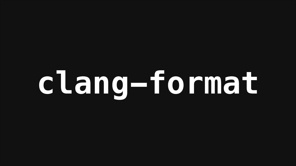 clang-format
