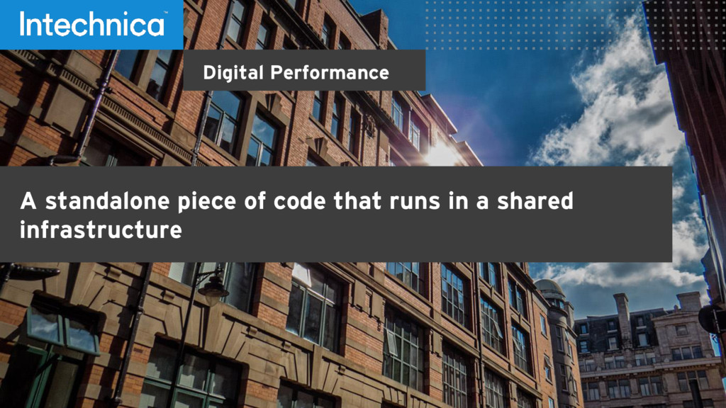 Digital Performance A standalone piece of code ...