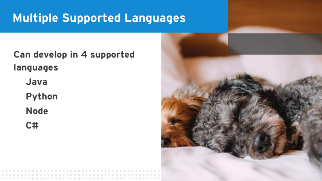 Multiple Supported Languages Can develop in 4 s...