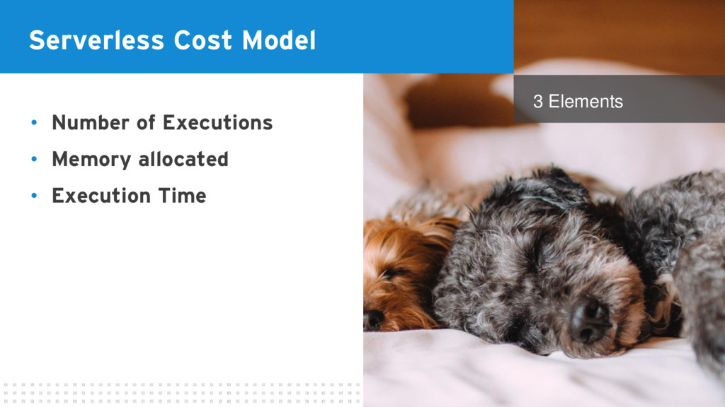 Serverless Cost Model • Number of Executions • ...