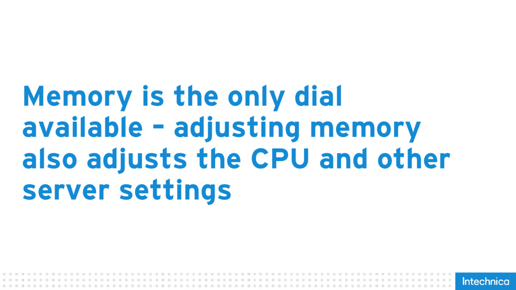 Memory is the only dial available – adjusting m...