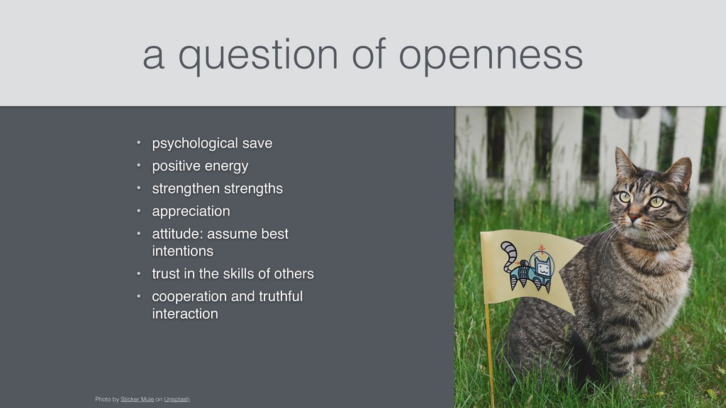 a question of openness • psychological save • p...