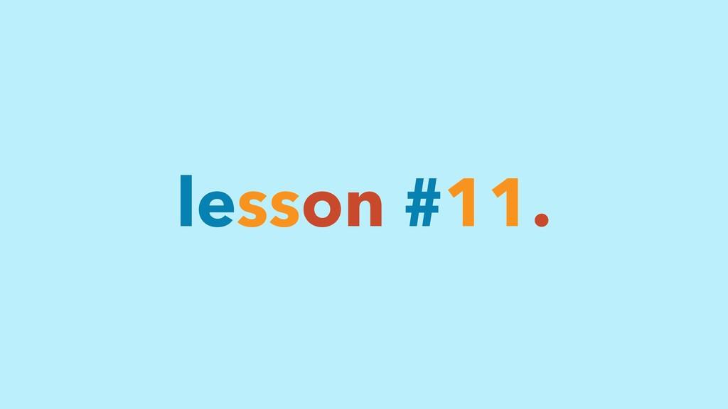 lesson #11.
