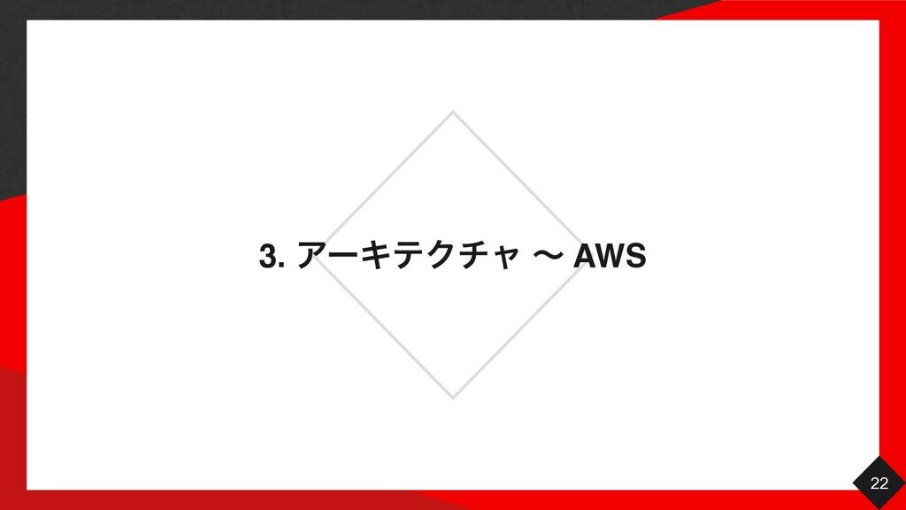 3. ΞʔΩςΫνϟ ʙ AWS 22