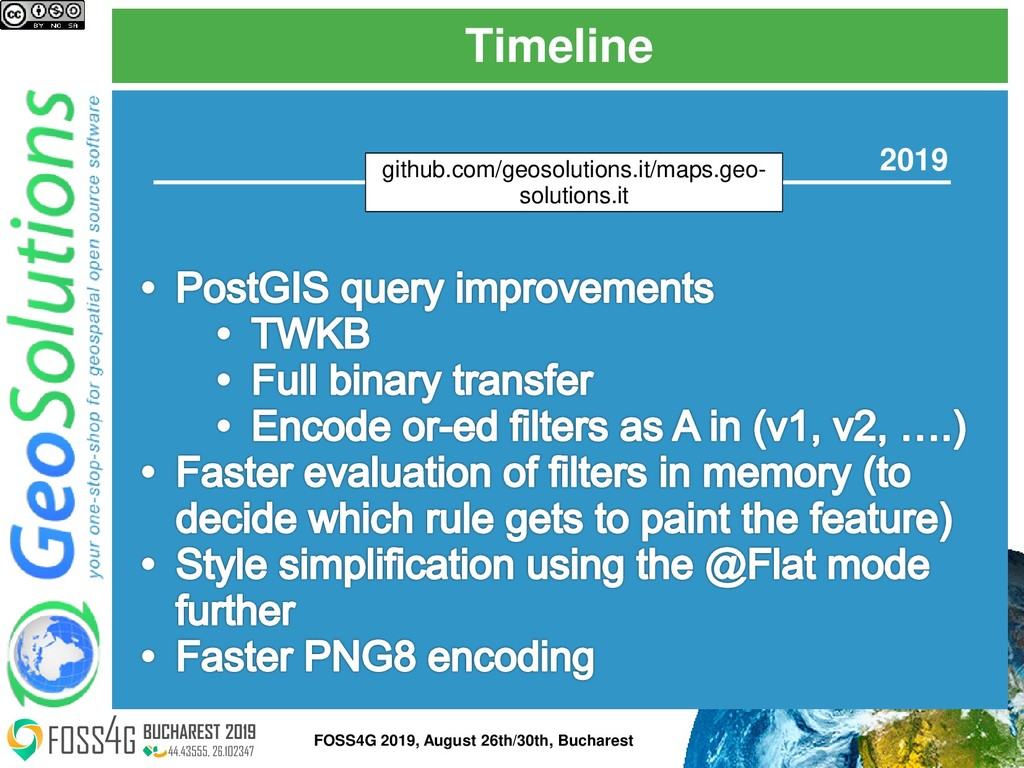 Timeline FOSS4G 2019, August 26th/30th, Buchare...