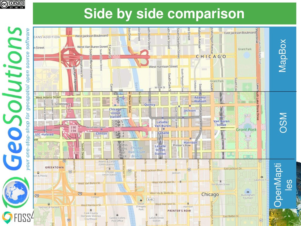 Side by side comparison FOSS4G 2019, August 26t...