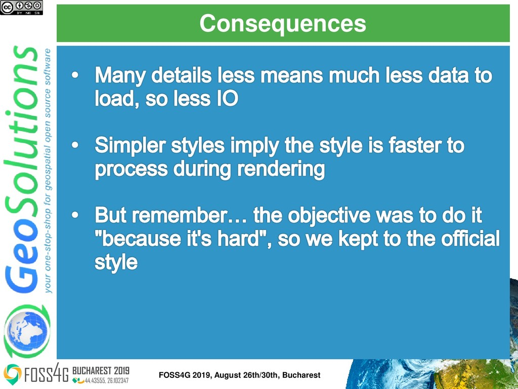 Consequences FOSS4G 2019, August 26th/30th, Buc...