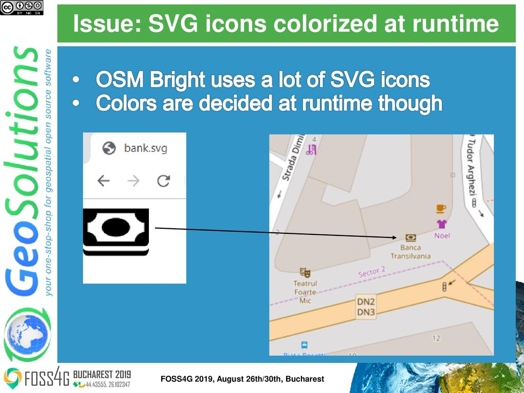 Issue: SVG icons colorized at runtime FOSS4G 20...