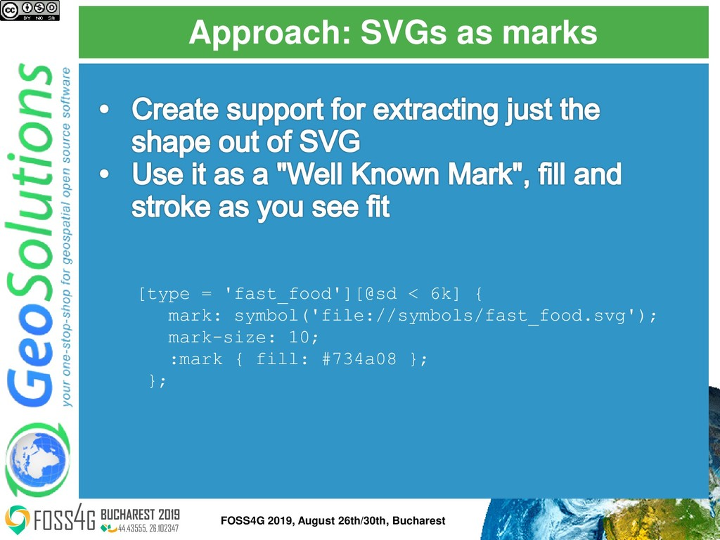 Approach: SVGs as marks FOSS4G 2019, August 26t...