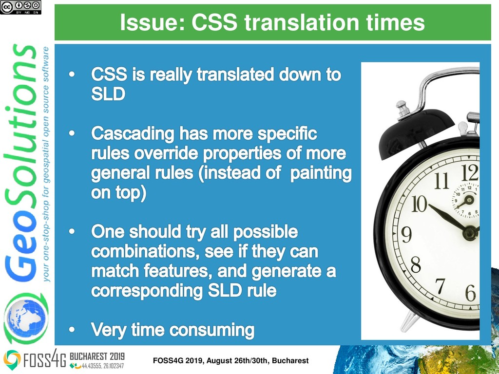 Issue: CSS translation times FOSS4G 2019, Augus...